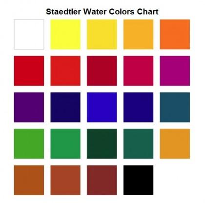 STAEDTLER WATER COLORS 12ml TUBE SET